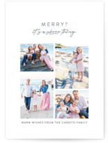 This is a blue holiday photo card by Lea Delaveris called A shore thing with standard printing on smooth signature in standard.