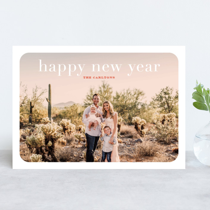 """rosé overlay"" - Holiday Photo Cards in Rose by Sarah Curry."