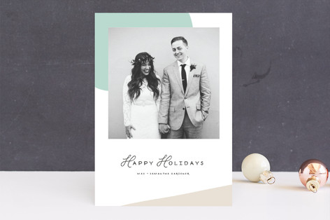 Simple Shapes Holiday Photo Cards