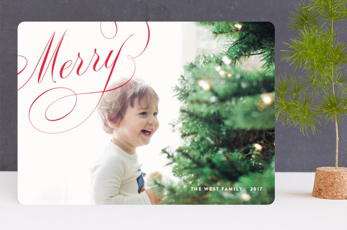 """Crosby"" - Holiday Photo Cards in Cherry by kelli hall."