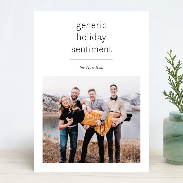 """""""Generic"""" - Holiday Photo Cards in Festive by Hudson Meet Rose."""