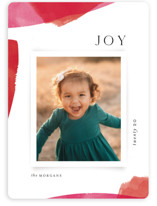 This is a pink holiday photo card by Kristie Kern called Painted Edges with standard printing on smooth signature in standard.