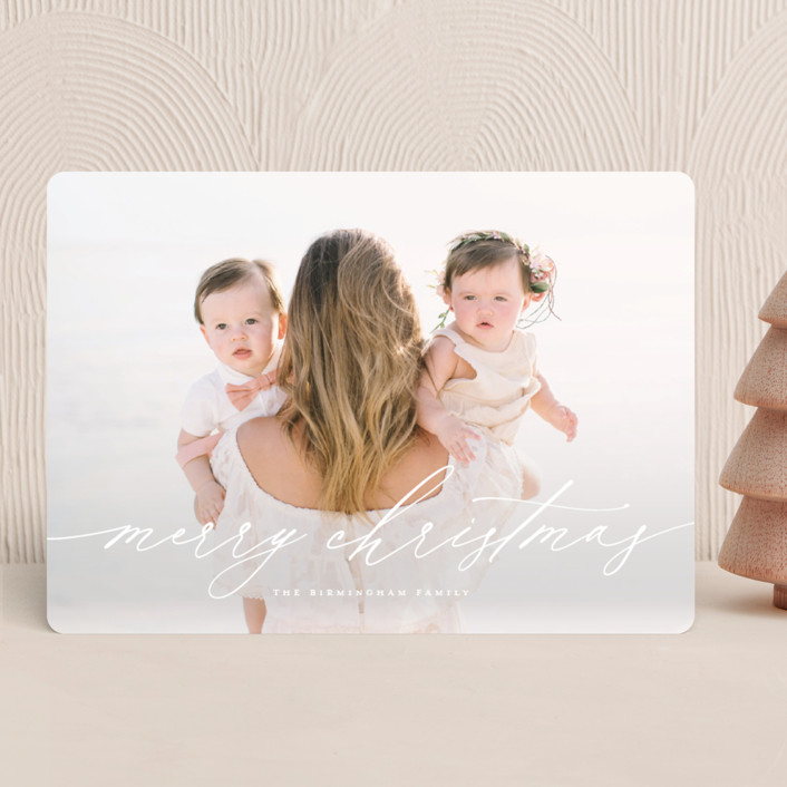 """Christmas Letter"" - Modern Holiday Photo Cards in Snowflake by Wildfield Paper Co."