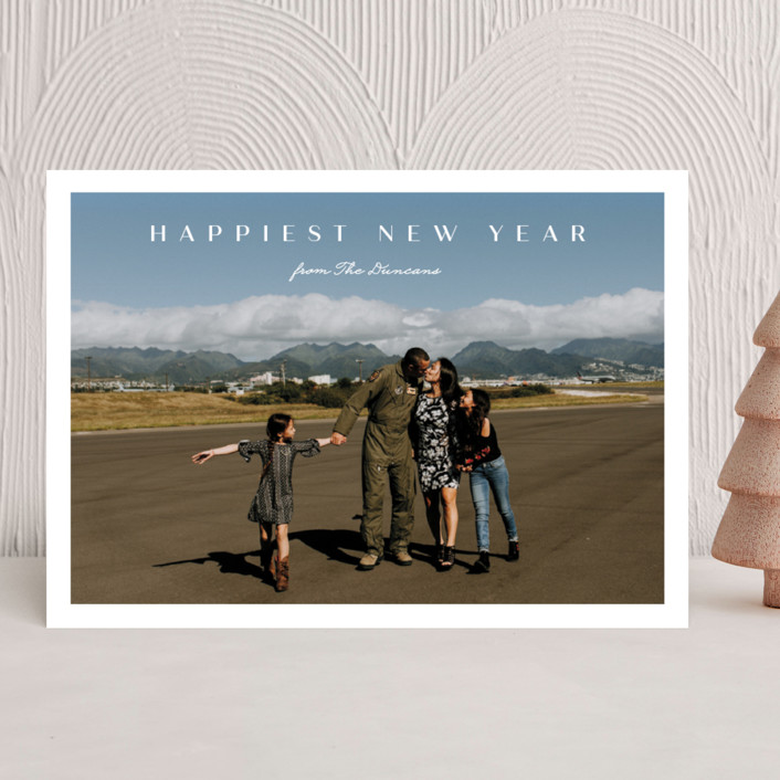 """Nostalgia"" - Holiday Photo Cards in Marshmallow by Carolyn MacLaren."