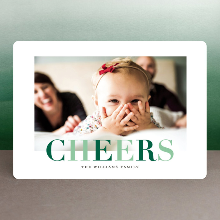 """""""Promenade"""" - Holiday Photo Cards in Evergreen by Griffinbell Paper Co.."""