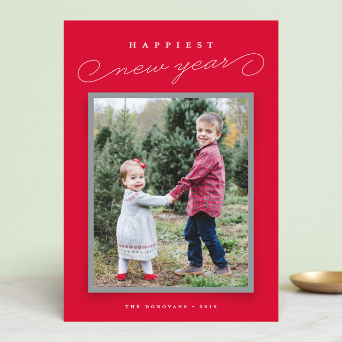 """Snapshot"" - Holiday Photo Cards in Holly Berry by Stacey Meacham."