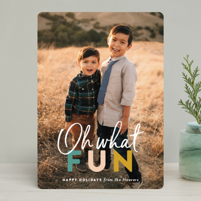 """""""color fun"""" - Holiday Photo Cards in Spruce by Sara Hicks Malone."""