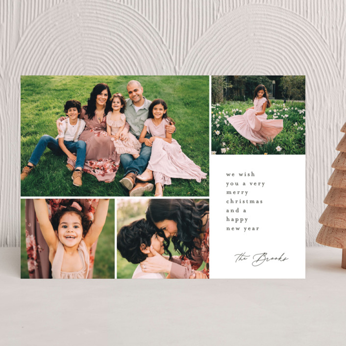 """""""Modern Greeting"""" - Holiday Photo Cards in Stone by Brianne Larsen."""