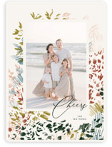 This is a green holiday photo card by Kayla King called Christmas Garden with standard printing on smooth signature in standard.