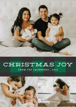 Plaid Tidings Holiday Photo Cards By Jill Means