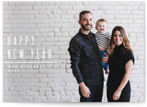 This is a white holiday photo card by Owl and Toad called Minimal with standard printing on smooth signature in standard.