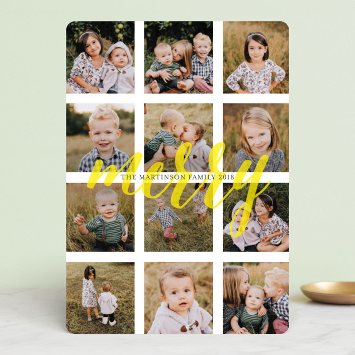"""""""Merry Bit of Sunshine"""" - Modern Holiday Photo Cards in Sunshine by Melissa Casey."""