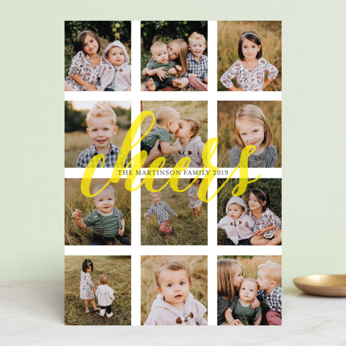 """Merry Bit of Sunshine"" - Modern Holiday Photo Cards in Sunshine by Melissa Casey."