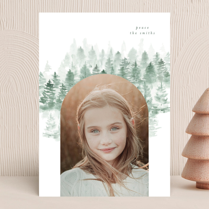 """""""snow mountains"""" - Holiday Photo Cards in Snow by Phrosne Ras."""
