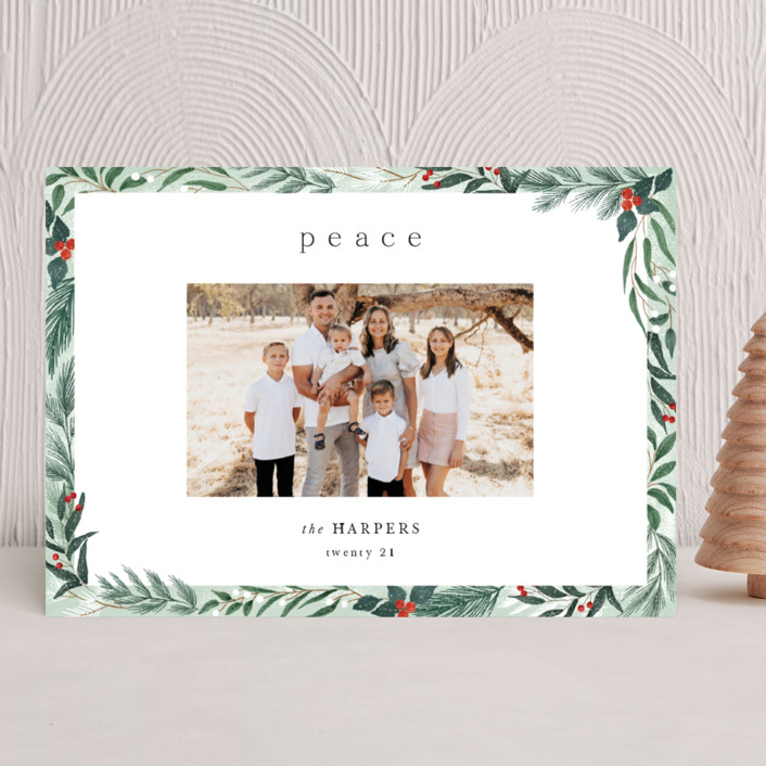 """""""Frosty"""" - Holiday Photo Cards in Mint by Elly."""