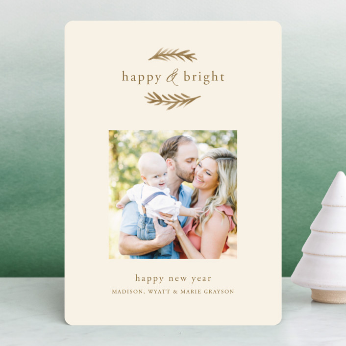 """""""Grateful & Hopeful"""" - Holiday Photo Cards in Kraft by Amy Kross."""