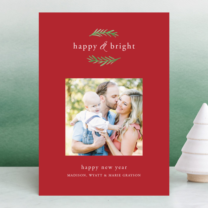 """""""Grateful & Hopeful"""" - Holiday Photo Cards in Snow by Amy Kross."""
