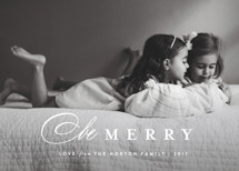 Classic Whimsy Holiday Photo Cards By Carolyn MacLaren