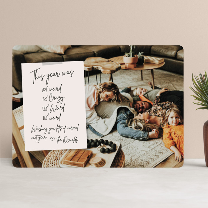 """""""Weird Note"""" - Funny Holiday Photo Cards in Natural by Danie Romrell."""