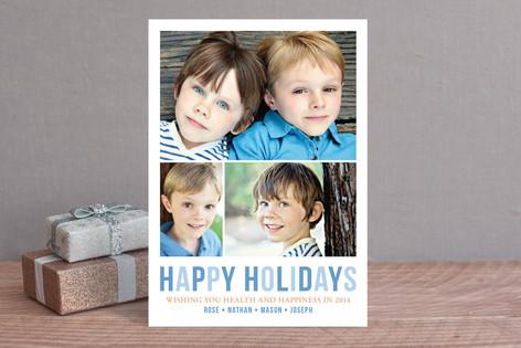 Minimal Trio Holiday Photo Cards