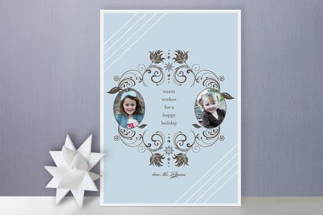 Snow Flourish Holiday Photo Cards