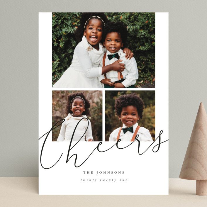 """""""simple script merry"""" - Modern Holiday Photo Cards in Onyx by Summer Winkelman."""