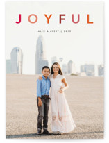 This is a red holiday photo card by Snow and Ivy called joyful colorful with standard printing on smooth signature in standard.