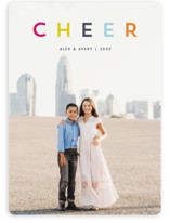 This is a blue holiday photo card by Snow and Ivy called joyful colorful with standard printing on smooth signature in standard.