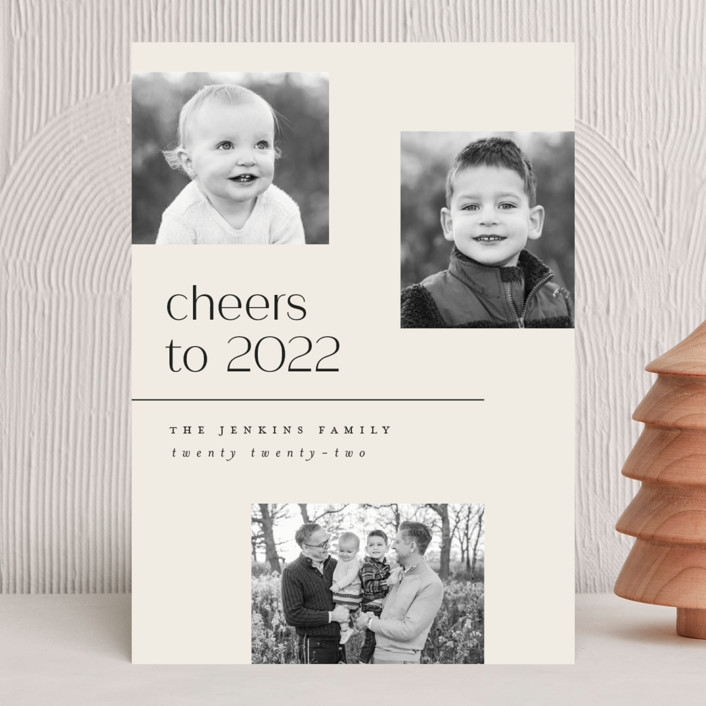 """""""Multi"""" - Holiday Photo Cards in Eggnog by Pink House Press."""