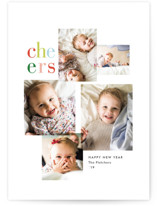 This is a white holiday photo card by Amy Kross called Joy Full with standard printing on smooth signature in standard.