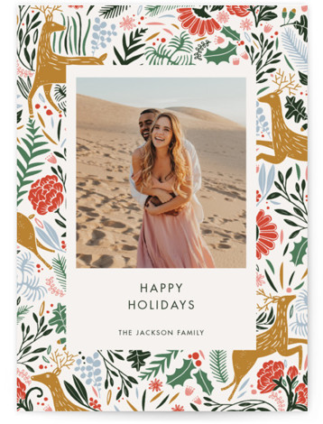 Holiday Forest Photo Holiday Photo Cards