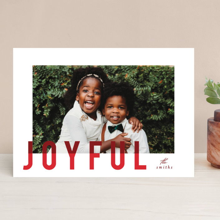 """""""joyful colorblock"""" - Holiday Photo Cards in Punchy by AK Graphics."""