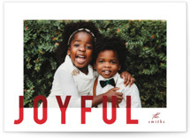 joyful colorblock Holiday Photo Cards By AK Graphics