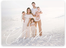 This is a white holiday photo card by Kristie Kern called Festive Jot with standard printing on smooth signature in standard.
