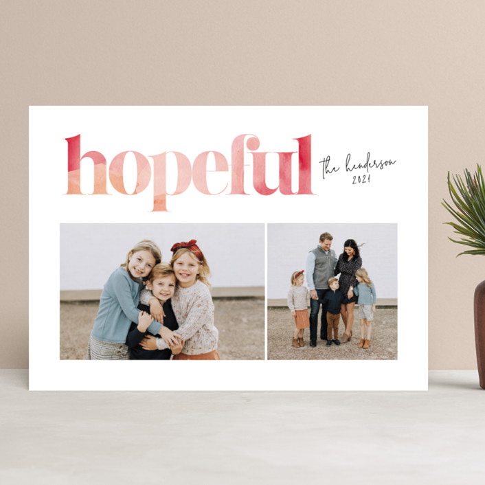 """""""Joyful Wash"""" - Holiday Photo Cards in Desert Sunset by Itsy Belle Studio."""