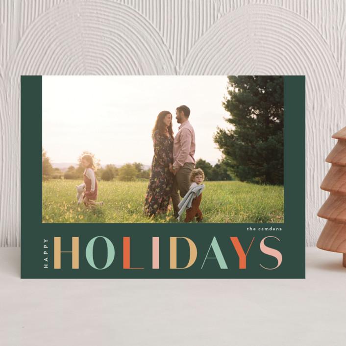 """Bavaroise"" - Holiday Photo Cards in Wreath by chocomocacino."