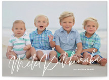 This is a white holiday photo card by Guess What Design Studio called island greetings with standard printing on smooth signature in standard.