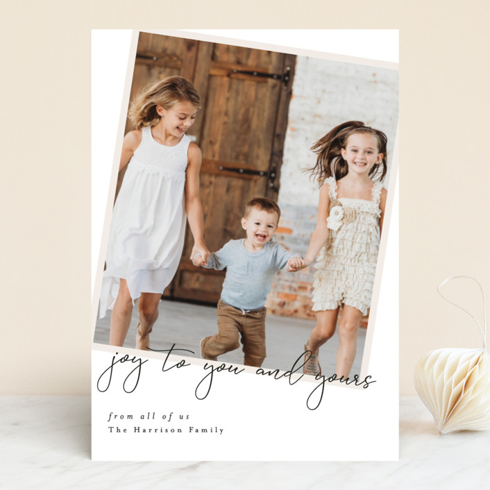 """You and Yours"" - Holiday Photo Cards in Eggnog by Ella Weaver."
