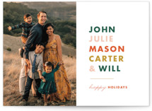 This is a orange holiday photo card by Alaina Cherup called Pile Up with standard printing on smooth signature in standard.