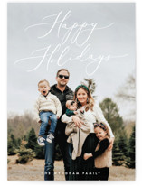 This is a white holiday photo card by Ekko Studio called Understated Elegance with standard printing on smooth signature in standard.