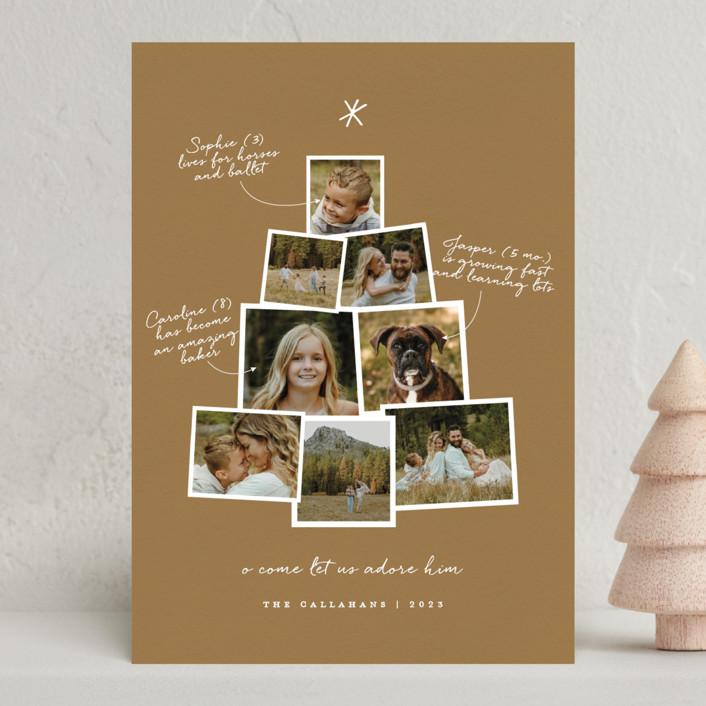 """""""Photo Tree"""" - Holiday Photo Cards in Night Sky by Shari Margolin."""