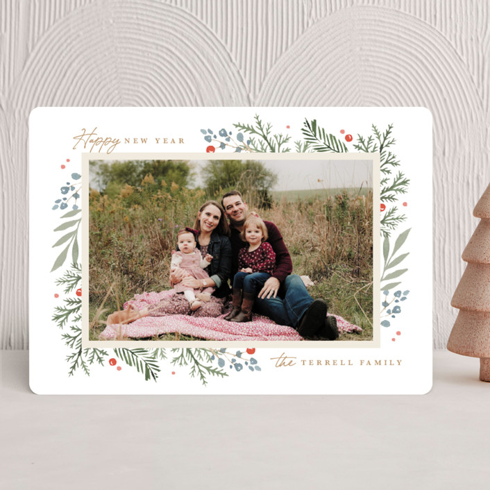 """Evergreen Trim"" - Holiday Photo Cards in Evergreen by Kristen Smith."