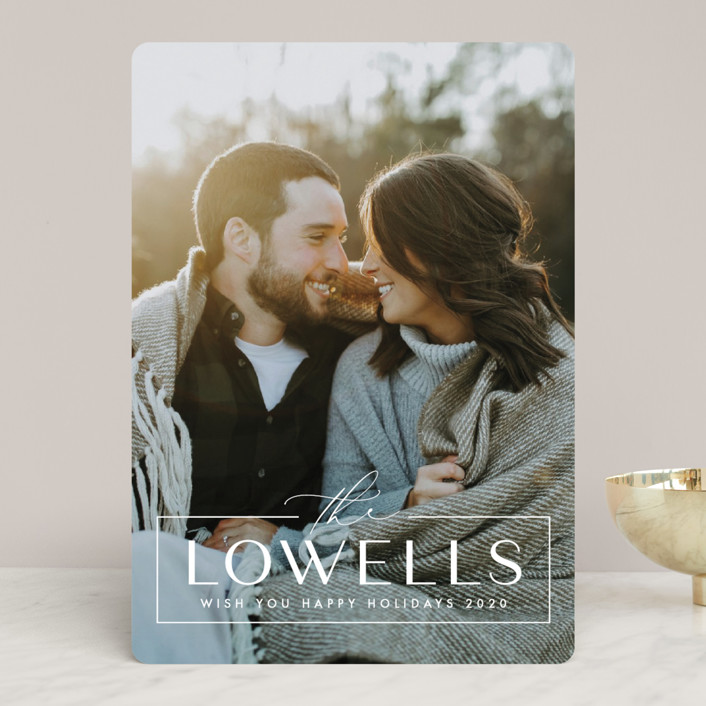 """""""Us"""" - Holiday Photo Cards in Snow by Ink and Letter."""