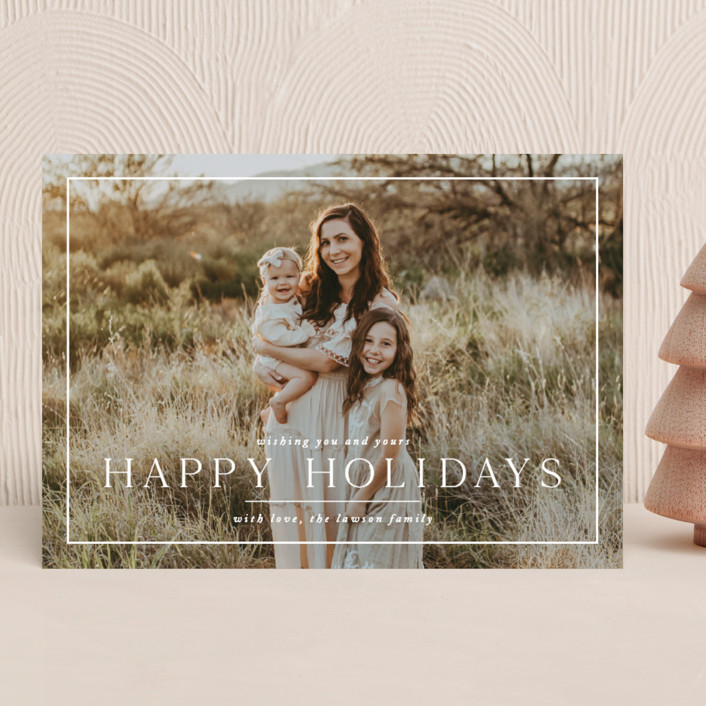 """""""Framer"""" - Holiday Photo Cards in Snow by Amy Kross."""