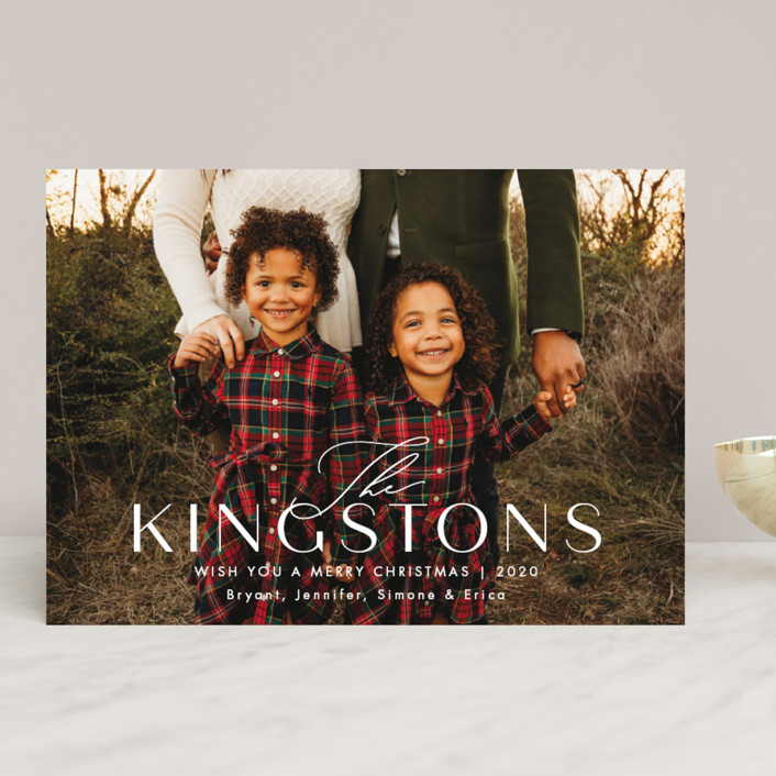 """Kingston"" - Holiday Photo Cards in Snow by Amy Kross."