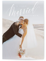 This is a white holiday photo card by Nicoletta Savod called Very Married Christmas with standard printing on smooth signature in standard.