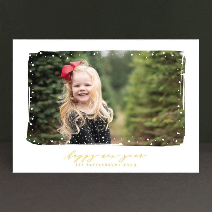 """Simple Snow"" - Holiday Photo Cards in Cardinal by Lehan Veenker."