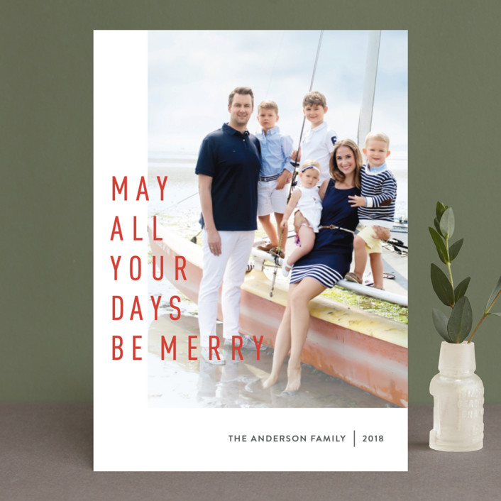 """""""May They Be Merry"""" - Holiday Photo Cards in Spicy by Abby Munn."""