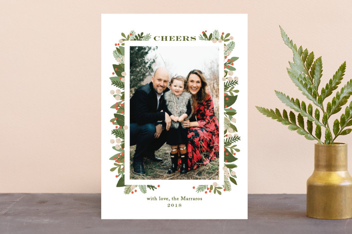 """laurel of pines"" - Holiday Photo Cards in Winter by Jennifer Wick."