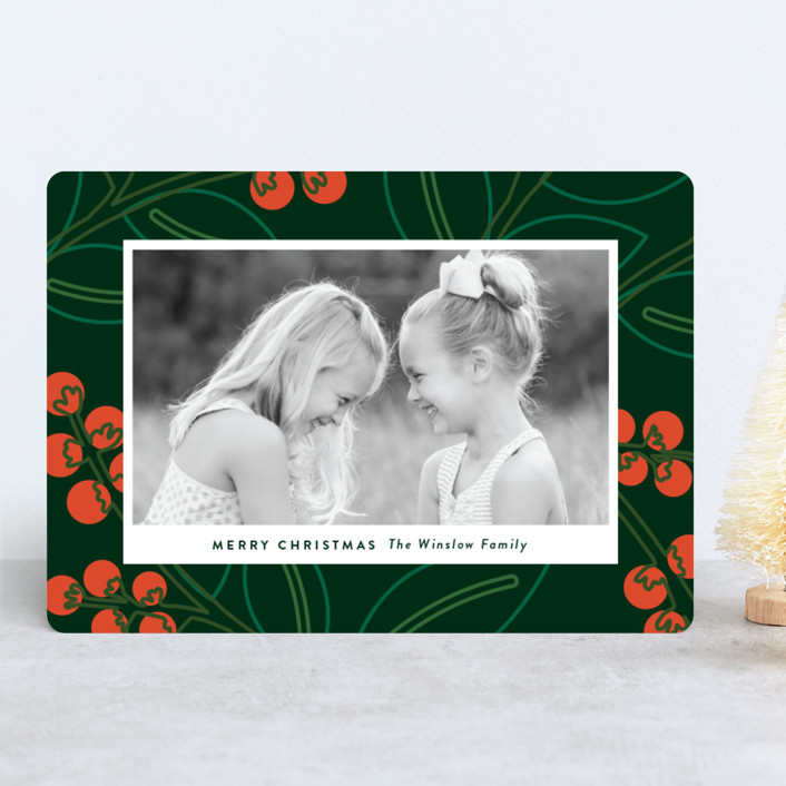 """""""Modernism"""" - Modern Holiday Photo Cards in Scarlet by Genna Cowsert."""